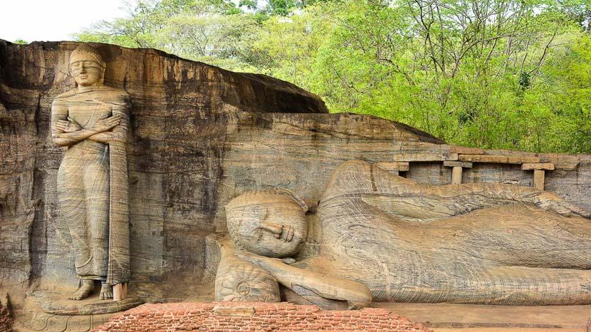 Triangle culturel, Statues de Gal Vihara à Polonnaruwa, Sri Lanka