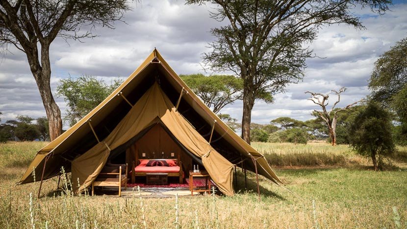 L'exclusivité en camp mobile de luxe, Osunyai Lamarkau Tarangire, Tanzanie