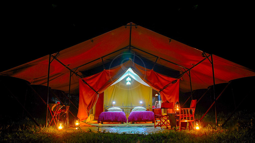 L'exclusivité en camp mobile de luxe, Mwituni Mobile Camp, Tanzanie