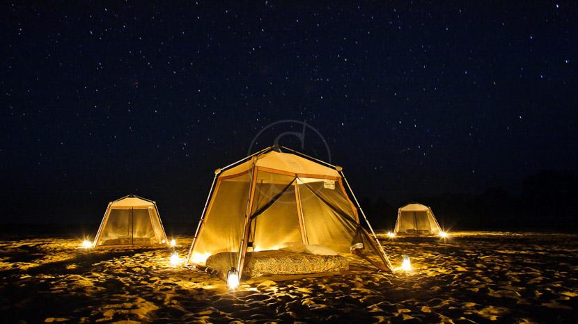 Camping improvisé dans le Selous, Fly Camping - The Retreat Selous, Tanzania