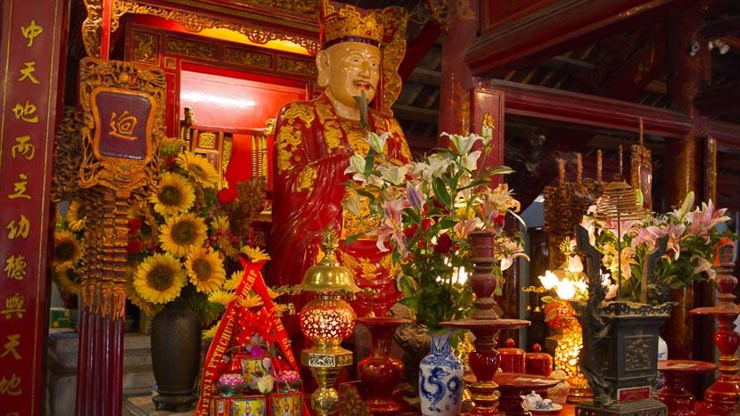 Hà Nội, Confucius au temple de la littérature à Hanoï, Vietnam