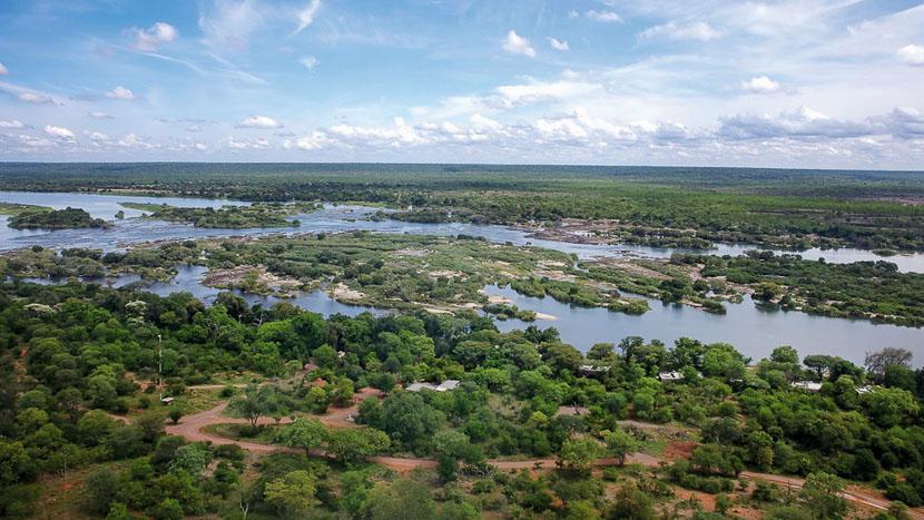Survol des chutes Victoria en hélicoptère, Matetsi Victoria Falls, Zimbabwe
