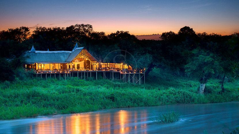 Lion Sands Tinga Lodge, Tinga Lodge de Lion Sands, Afrique du Sud