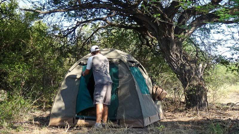 Campement itinérant semi-participatif au Botswana , Safari en campement itinérant, Botswana © Tous droits réservés