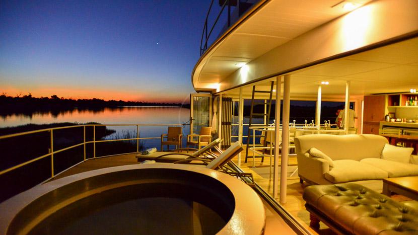 Chobe Princess, Safari sur la rivière Chobe, Botswana
