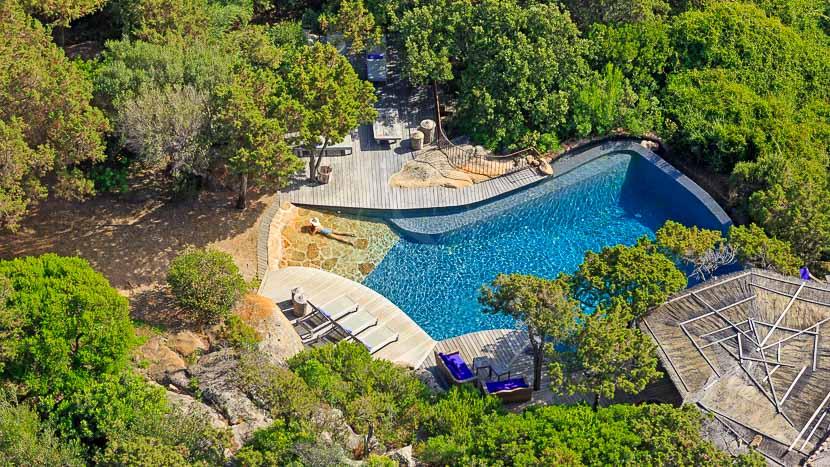 Domaine de Murtoli, France, Corse du Sud (2A), Domaine de Murtoli, maison Eddera (vue aerienne)