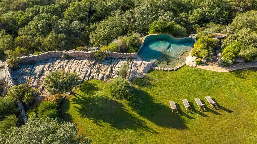 Domaine de Murtoli, France, Corse du Sud (2A), Domaine de Murtoli, maison U Fragnu (vue aerienne)