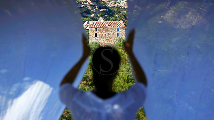 Domaine de Murtoli, Espace detente, Plage de la crique, Domaine de Murtoli, Corse du Sud (2A), France