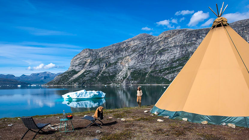 Camp Kiattua, Kiattua Camp, Groënland © Arctic Nomad - Stanislas Fautré