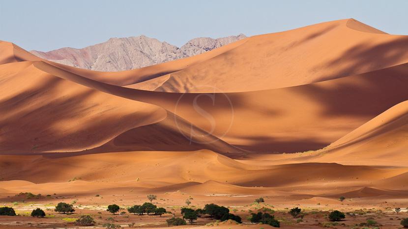 Campement itinérant en Namibie, Dunes de Sossusvlei dans le Désert du Namib