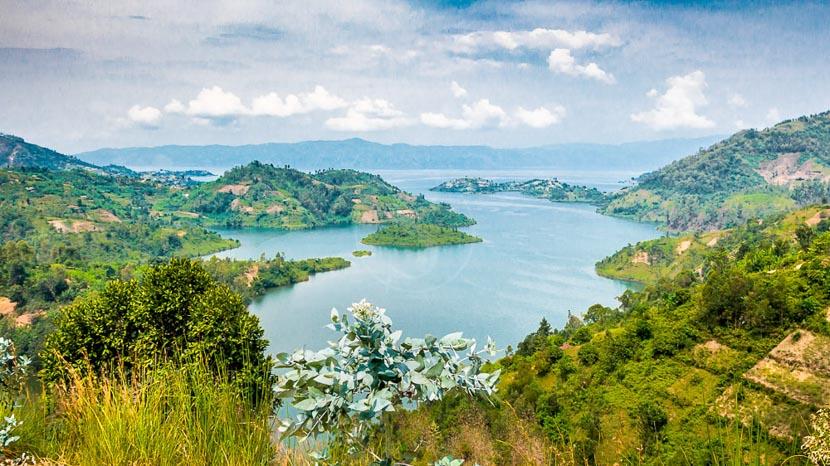 Cormoran Lodge, Vue sur le Lac Kivu, Rwanda