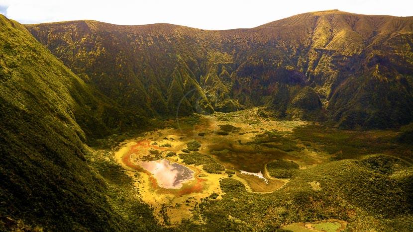 Açores, Caldeira du volcan Faial, Açores
