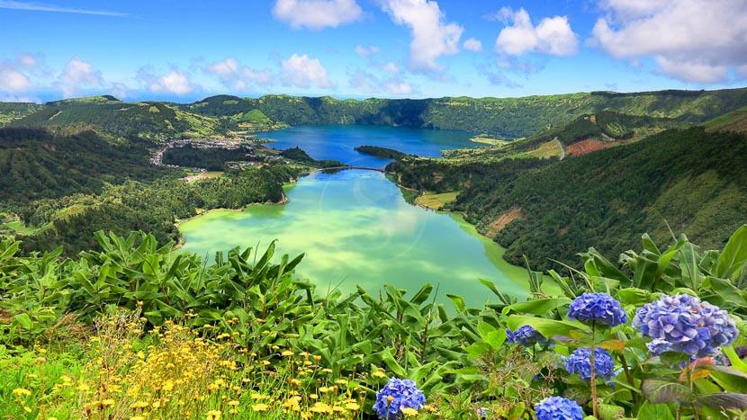 Les activités sur l'Ile de Sao Miguel , Cratère sur l'île de Sao Miguel, Açores