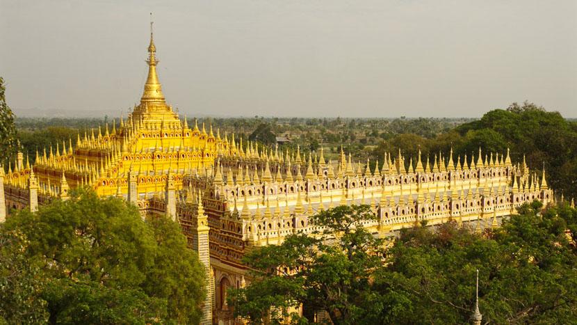 Birmanie, Temple de Thanbode à Monywa, Myanmar