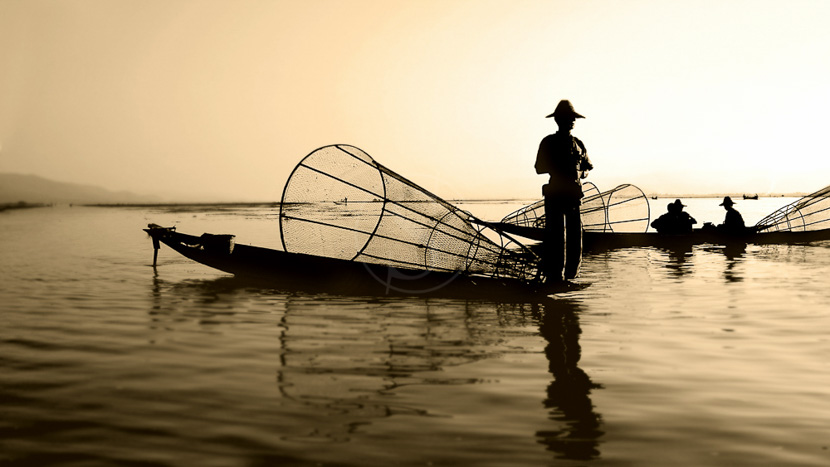 Birmanie, Ambiance sur le lac Inlé
