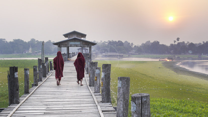 Amarapura, Pont U Bein à Amarapura, Birmanie