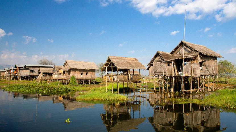 Lac Inle, Ambiance sur le lac Inlé, Birmanie © Shutterstock