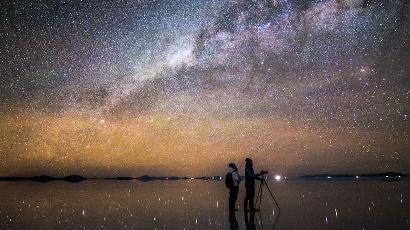 Salar d'Uyuni, Nuit étoilée sur le Salar d'Uyuni, Bolivie