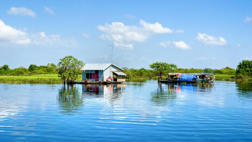 Cambodge, Lac Tonlé Sap, Cambodge
