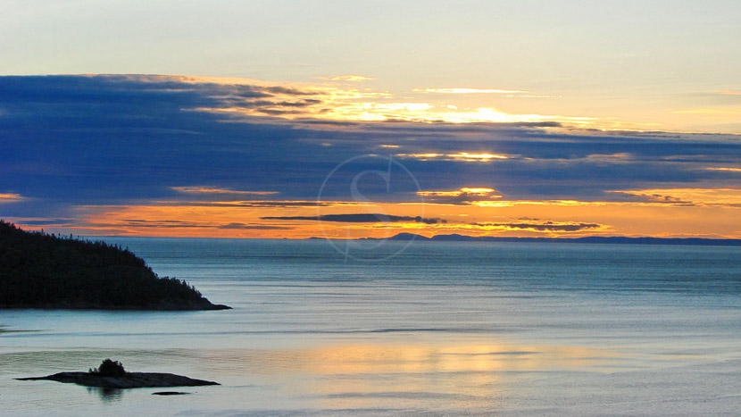 La province de Québec, Fjord Saguenay au Québec, Canada