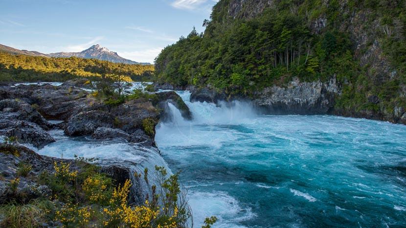 Région des Lacs et l'île de Chiloe, Chutes de Petrohue, Chili