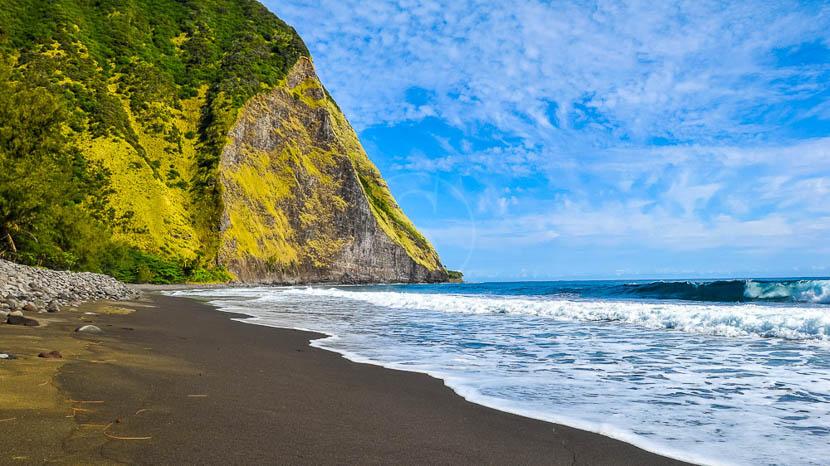 Hawaï, Waimanu Beach, Hawai © Shutterstock