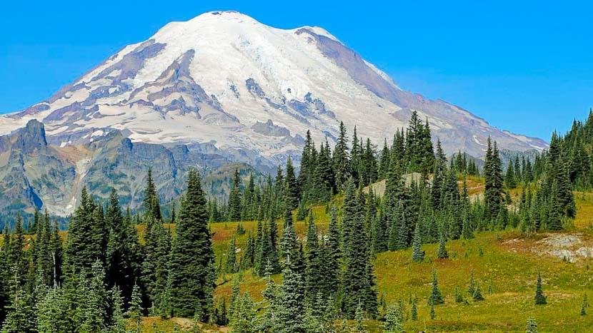 Parc national de Mont Rainier, Mont Rainier, Etats Unis