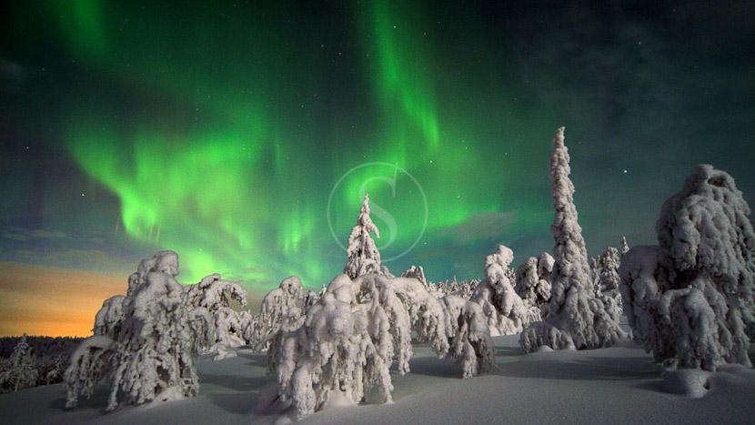 La Laponie, Aurore boréale, Finlande