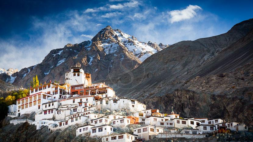 Ladakh, Monastère de Diskit dans la vallée de Nubra au Ladakh, Inde