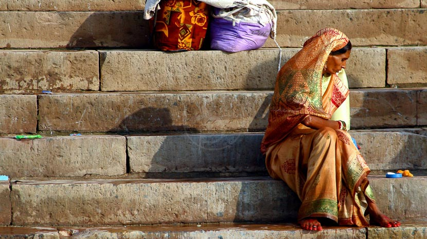 Varanasi, Les bords du Gange à Varanasi, Inde