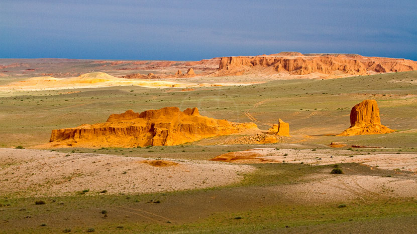 Les falaises de Bayanzag, Falaises de Bayanzag, Mongolie