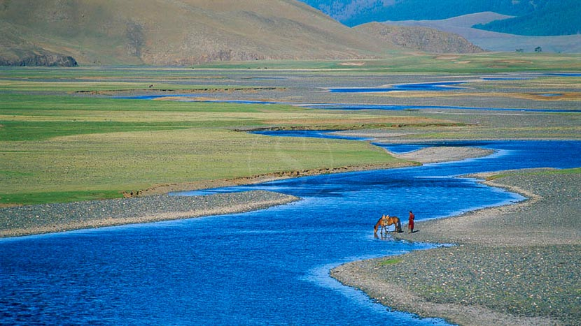 Vallée de l'Orkhon, Steppe mongole, Mongolie © Bruno Morandi