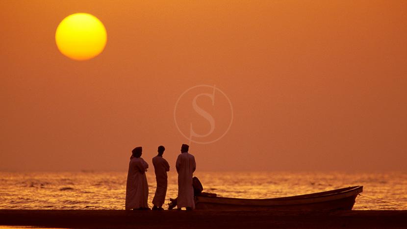 Mascate, Coucher de soleil à Oman