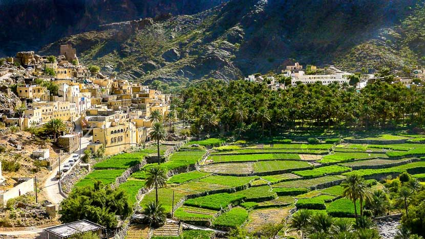 Monts Hajar, Monts Hajar, village Bilad Sayt, Oman