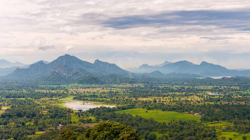 Ascension de la citadelle de Sigirîya, Paysage du Sri Lanka depuis le rocher du Lion