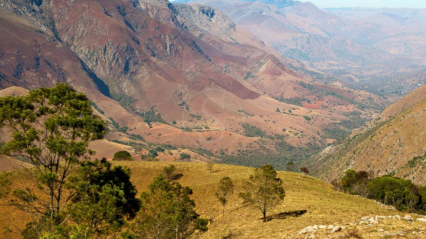 Swaziland, Paysages autour de Mlilwane, Swaziland
