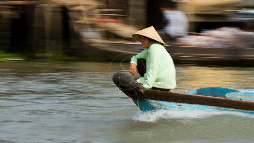 Delta du Mékong, Marché flottant du le Mékong, Vietnam