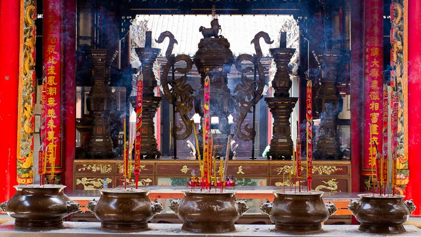 Saigon, Le temple de Thiên Hậu (ou temple de la Dame Céleste, Saigon